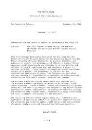 presidential memo on insider threats why now origin