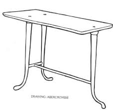 trapeza usually tables had 3 legs a three legged table is a solution to the wobbly aspect trapeza means also bank since the first banks were nothing ancient greek furniture