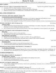 resume fall phoebe w north resume fall 2016