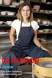 CLAYPRON Artist Kitchen Split Apron (Blue Denim ... - Amazon.com