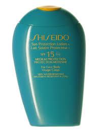 Защитный <b>лосьон</b> SPF15 <b>Sun</b> Care <b>Shiseido</b> - купить по цене ...
