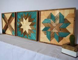 wood wall art bundle set of white star quilt designs modern wood art wall hanging wooden wall art geometric wood art boho wood art artistic wood pieces design
