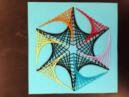 Image result for parabolic string art