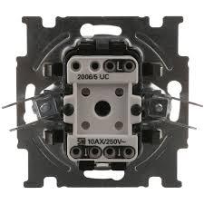 Выключатель встраиваемый <b>ABB Basic 55</b> 2 клавиши, цвет белый