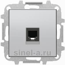 <b>Розетка</b> компьютерная <b>RJ-45</b> 8 контактов <b>ABB SKY</b> (Серебристый)