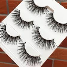 <b>3 pairs Natural</b> Long 3D False Eyelashes <b>Fashion</b> Stage Makeup ...