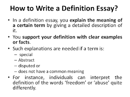 types of essays and examples essay each definition essay recap    how to write a definition essay in a definition essay you explain the meaning   definition essay