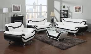 modern white and black leather sofas with for small living room black leather living room