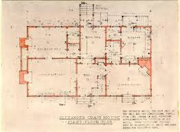 Alexander Craig House Architectural Report Block Building Lot    Craig House Floor Plan