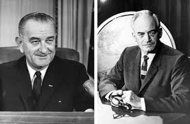 「help Democrat Lyndon Johnson defeat Republican Barry Goldwater in 1964,」の画像検索結果