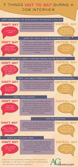 7 things not to say during a job interview infographic 7 things not to say during a job interview