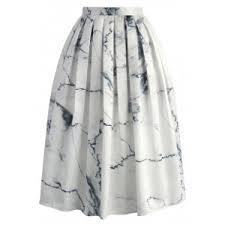<b>Marble</b> Chic <b>Printed</b> Midi Skirt - Retro, Indie and <b>Unique Fashion</b>
