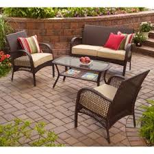 indooroutdoor patio furniture all weather wicker 4 pc with seat covers amazon patio furniture covers