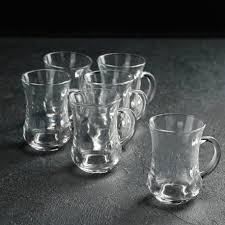Турецкие стаканы для чая (армуды), <b>набор 6</b> шт. по 130 мл., CH ...