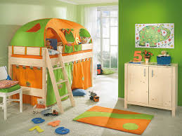 cheap kids bedroom ideas:  elegant funny kids bedrooms decorating ideas comes with orange green tent for kids bedrooms