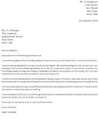 marketing cover letter example with Marketing Cover Letter