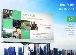 brilliant billboard advertising examples premium stunning non profit billboard template