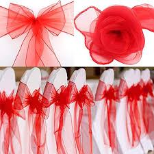 BITFLY <b>25pcs</b> Organza Ribbon <b>Chair Covers</b> Wedding Decoration ...