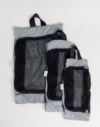 <b>Набор из 3 синих</b> дорожных сумок-органайзеров для вещей Kipling