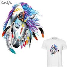 Iron <b>Patches For</b> Clothing Colorful <b>Horse</b> New Design Washable ...
