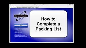 shipping solutions reg export software how to create a packing list shipping solutionsreg export software how to create a packing list