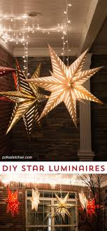 best ideas about hanging stars star lights hanging star lanterns a christmas front porch decorating idea