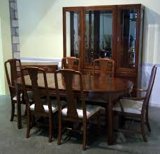 Thomasville Cherry Dining Room Set Chair Decoration Ethan Allen Solid Wood Dining Table Chairs