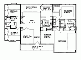 Eplans Ranch House Plan   Texas Hill Country Split Bedroom Plan    Level