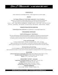 cosmetology resume objectives resume sample   resumeseed com    eela muzzarelli cosmetology resume resume for hair stylist