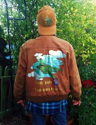 Hand painted WWII brown <b>bomber jacket</b> by @bleudoor on Instagram