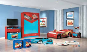 fantastic kids bedroom interior decorating ideas with with red bed car shape and some toy above the grey floor bedroom furniture bedroom interior fantastic cool