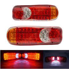 2 <b>PCS Waterproof</b> 12V <b>24</b> Truck LED Tail Light Rear Lamp Stop ...
