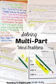 best ideas about math word problems word multi part math word problems can be a nightmare for the students this post offers