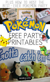 pokemon party printables maxabella loves pokemon party printables