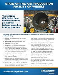 concrete mixers mcneilus mcneilus m80 series drum