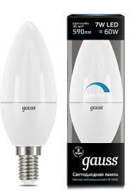 <b>Лампа Gauss LED Candle</b>-dim E14 7W 4100К диммируемая 1/10 ...