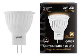 <b>Лампочка Gauss LED</b> MR11 3 Вт Светодиодная купить, цены в ...