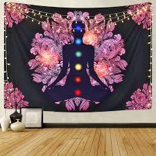 Chakra <b>Buddha Wall</b> Tapestry Indian Yoga <b>Wall</b> Hanging Artwork ...