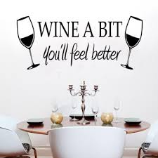 PVC Wine Glass Style Wall Stickers <b>Water Resistant Art</b> Decor -$8.1 ...