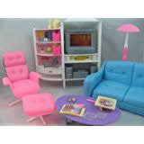 barbie size dollhouse furniture family room tv couch ottoman by gloria barbie dollhouse furniture sets