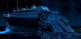 Image result for photo of the titanic sinking