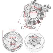 <b>Motorcycle Scooter Magneto Stator</b> Coil <b>Generator</b> For Yamaha ...