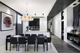 balck and white furniture modern dining room design black and white furniture
