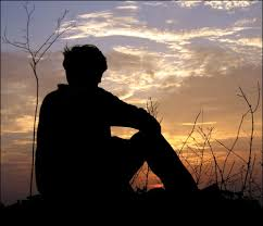 Image result for silhouette of someone sitting alone
