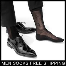 Formal <b>Dress suit silk socks</b> for leather shoes Mens sexy socks thin ...