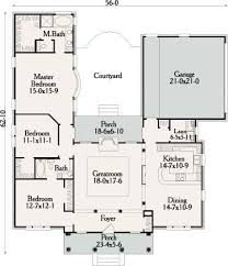 images about House plans on Pinterest   Floor Plans  House    Nice Courtyard  Enclosed Courtyard  Shaped Courtyard  Courtyard House  Add Bedroom  Th Bedroom  Third Car  Add Third  L Shaped House Plans