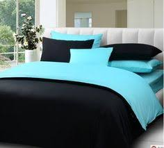 black and blue bedroom setwater blue bed in a bagqueen4pcs black blue bedroom