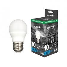 <b>Лампа светодиодная ECON LED</b> P 10Вт E27 4200K P45 ES ...