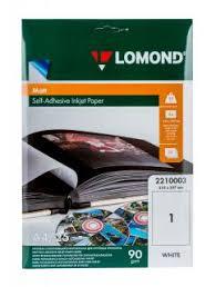 <b>Фотобумага Lomond A4</b>/<b>90г/м2</b>/25л./матовое самоклей. - Уценен ...
