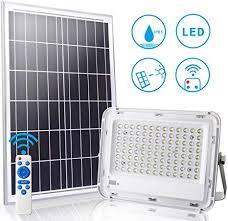 Ledmo <b>Solar</b> LED Flood <b>Light 100</b> W with Remote Control 10 m ...
